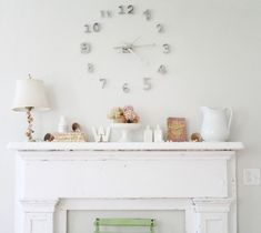 DIY Wall Clock Of House Numbers