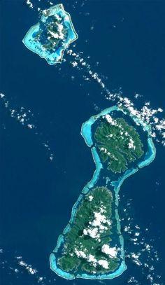 * Bora-Bora, Tahaa, Raiatea * Ilhas de Sotavento, Arquipélago da Sociedade. Polinésia Francesa.