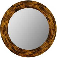 Pretty lacquered bamboo creates this island inspired round mirror!  Elegance for the tropics!
