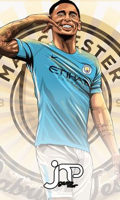 Manchester city Ronaldo Football, Football Love, Football Art, Football Players, Cr7 Messi, Neymar, Manchester City Wallpaper, Gabriel Jesus, Soccer Drawing