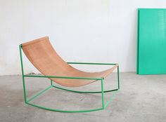 A furniture project by Fien Muller and Hannes Van Severen, First Rocking Chair i.- A furniture project by Fien Muller and Hannes Van Severen, First Rocking Chair i… A furniture project by Fien Muller and Hannes Van… - Metal Furniture, Furniture Projects, Cool Furniture, Modern Furniture, Furniture Design, Furniture Cleaning, Painted Furniture, Furniture Chairs, Luxury Furniture