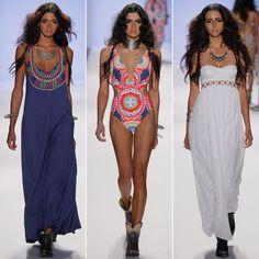 Fashion Week Mara Hoffman Think Aztec and Egyptian art Mara Hoffman Swimwear, Mara Hoffman Dress, Fashion 101, Fashion Show, Womens Fashion, Fashion Trends, Egyptian Fashion, Egyptian Art, Cool Outfits