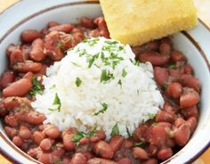 Red beans and rice - my go to recipe. I love using Camellia brand beans. Makes me think of NOLA