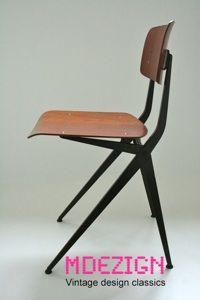 http://www.mdezign.info Friso Kramer Result style Wim Rietveld industrial chair dutch design Marko Holland 1960s