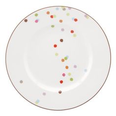 kate spade | market street accent plate  i really REALLY want a set of 8...but at $19 a plate, its going to have to be someone who REALLY loves me!