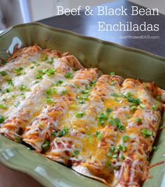 Beef and Black Bean Enchiladas #recipe #enchiladas #MexicanFood
