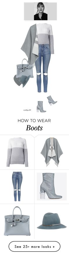 """""""Just another winter day...!"""" by katelyn999 on Polyvore featuring Proenza Schouler, Topshop, Maison Margiela, Burberry, Wommelsdorff, Hermès and Janessa Leone"""