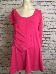 601ef8dba48 Denim  amp  Co Women Plus Size Pink 1X Long Sleeve Casual Shirt Scoop Neck  Top