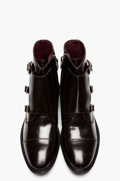 Tiger Of Sweden Deep Brown Monk Strap Clive 04 Boots for men Men's Shoes, Dress Shoes, Hardy Amies, Its A Mans World, Travel Dress, Tiger Of Sweden, Deep Brown, Men's Fashion, Fasion