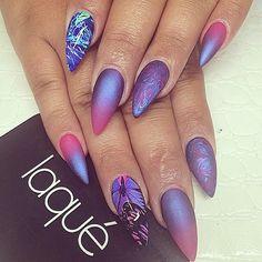 Awesome Galaxy #stilettonails #stiletto #nails
