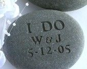 I DO - Personalized Oathing Stone - Wedding Vow, Anniversary, Commitment - wedding stone by sjEngraving