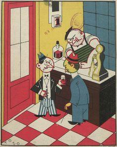 Illustration: Tono, 1926  (From Spanish satirical magazine Buen Humor)