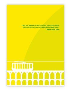 """O pôster Alma Brasileira trás o bondinho da Lapa e uma frase do compositor na qual ele diz: """"Sim sou brasileiro e bem brasileiro. Na minha música, deixo cantar os rios e os mares desse grande Brasil"""". #operaclub #opera #villalobos"""