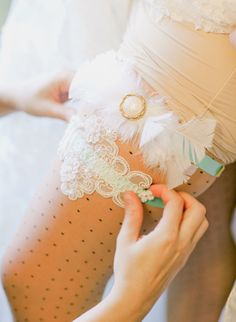 Gorgeous Aqua and Lace Garter. #sexy Wedding Day Must-Have: Get Your Garter On!