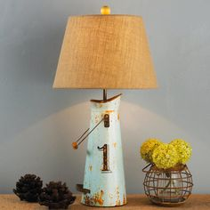 Milk Can Table Lamp