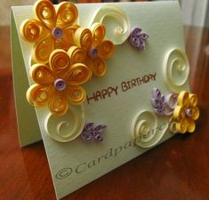 Handmade Birthday Card by Quilling - Quilled Creations Quilling Gallery