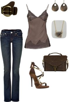 Cute girls night out outfit.