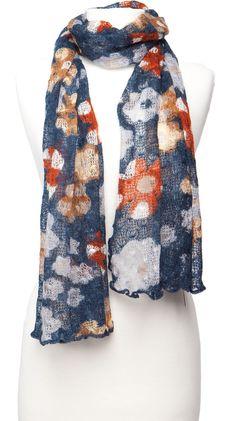 Crochet Scarf, Blue by Violet Del Mar :)