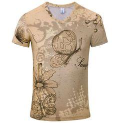 570e432a0ef Pánské moderní tričko s 3D potiskem motýli – pánské trička + POŠTOVNÉ  ZDARMA Na tento produkt