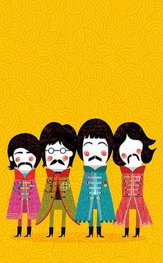 The Beatles ilustração! Muito fofa <3