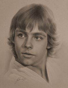 Obi Wan Kenobi Discover Portrait Drawings with a few Celebrities Mark Hamill as Luke Skywalker 1977 Star Wars. Portrait Drawings with a few Celebrities. Mark Hamill, Luke Skywalker, Geeks, Star Wars Drawings, Star Wars Episode Iv, Star Wars Pictures, Celebrity Drawings, Celebrity Portraits, Star Wars Fan Art