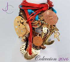 Catálogo » Collares de Cuero » Collar 6 Cueros Corazón G - Crearte Joyas - Isla de Margarita Venezuela