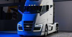 Der Truck hat neben einem Akku auch eine Brennstoffzelle an Bord. (Foto; Nikola Motor Company)