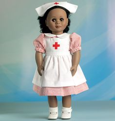 M7031 - New sewing pattern for McCalls American girl doll - Nurse, Dr, Magician & trench coat