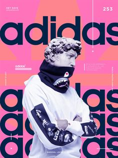 Adidas Print Design by Magdiel Lopez - Graphic. Collage Poster, Mode Collage, Poster S, Poster Layout, Blue Poster, Cover Design, Graphisches Design, Layout Design, Print Design