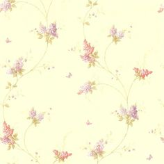 Isabelle Mauve Butterfly Floral Trail