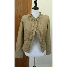 "Anthropologie jacket Khaki cotton jacket. Measures 20"" across the bust and 20"" long. EUC. Anthropologie Jackets & Coats"