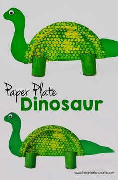 Paper Plate Dinosaur Kids Craft is part of Kids Crafts Dinosaurs Animals Today we are creating our own paper plate dinosaur using bubble wrap and paper towel rolls! My son and I are always looking f - Dinasour Crafts, Dinosaur Crafts Kids, Dino Craft, Dinosaur Projects, Dinosaur Activities, Art N Craft, Toddler Crafts, Preschool Crafts, Kids Crafts