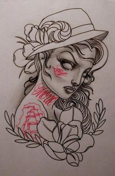 #artetatuaje #mujer #flor #tatuaje