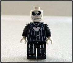 Jack Skellington Lego (I think I have to make one of these for myself!)