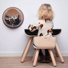 Sunday morning play time on the PlanToys Table & Chair ☺️ Produced from sustainable rubber wood ♻️💚 📸 by Plan Toys, Bent Wood, Little Monkeys, Wood Design, Table And Chairs, Hygge, Baby Room, Flamingo, Sustainability