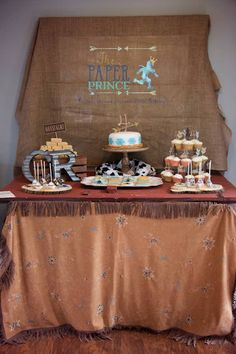 Sweet Table from a Rustic Cowboys & Indians Birthday Party via Kara's Party Ideas | KarasPartyIdeas.com (18)
