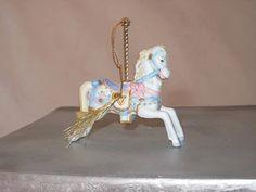 Decorative White Horse Lenox Christmas Carousel by LoveNStuff14