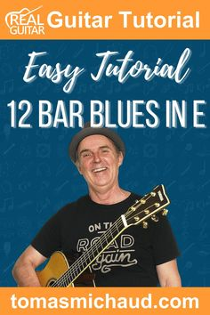 The 12 bar blues is a very common pattern and an important one for guitar players to learn, and the 12 bar blues in the key of E is the most popular for guitar players. It is used extensively in blues, rock, country, jazz, and pop music. In this guitar lesson, you will learn what makes up the basic 12 bar blues structure and a step-by-step approach to learning it. In its most basic form, the 12 bar blues uses just three chords: an E chord, an A chord, and a B7 chord. Play Guitar Chords, Learn Acoustic Guitar, Learn To Play Guitar, Easy Guitar, Guitar Tips, Guitar Lessons, Rhythm And Blues, Blues Music, Pop Music