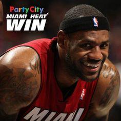 LeBron James smile for Miami Heat win