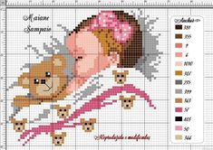 Bébés Cross Stitch Owl, Simple Cross Stitch, Cross Stitch Flowers, Cross Stitch Designs, Cross Stitching, Cross Stitch Patterns, Learn Embroidery, Cross Stitch Embroidery, Baby Chart