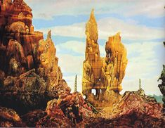 First of two details from 'Europe After the Rain, II' by Max Ernst, oil-on-canvas, 1940-42.
