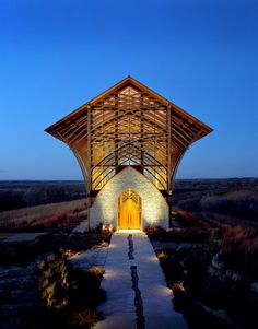 "One of my favorite places to spend a quiet hour or two.everyone is welcomed. The entire site contributes to the experience. The beauty ""works"" at all hours and in all seasons. [Holy Family Shrine, Gretna Nebraska by BCDM Architects] Gretna Nebraska, Church Architecture, Modern Architecture, Sacred Architecture, Amazing Architecture, Holy Family, Place Of Worship, Travel Usa, The Best"