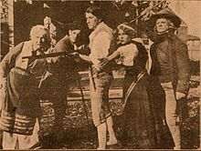 Still from the 1910 silent film John Halifax, Gentleman 1910.  The film is lost.