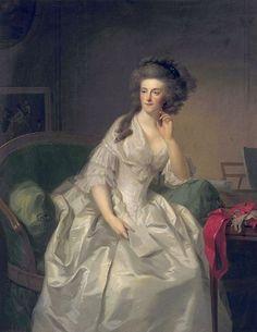 Johann Friedrich August Tischbein - Portret van Frederika Sophia Wilhelmina, prinses van Pruisen (1751-1820), echtgenote van Willem V, prins van Oranje