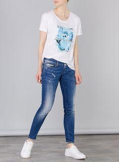 Pantalones jeans Jenny curvy fit en color denim de Tiffosi Tienda online | Moda mujer y hombre