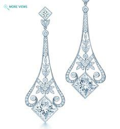 Garland diamond chandelier earrings (Tiffanys)