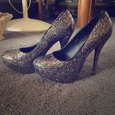 Charlotte Russe sparkle heels Worn a few times, super sparkly and great for a night out. Charlotte Russe Shoes Heels