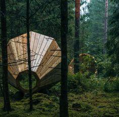 Megáfonos de madera en los bosques de Võru (Estonia) - Arquitectura Viva · Revistas de Arquitectura