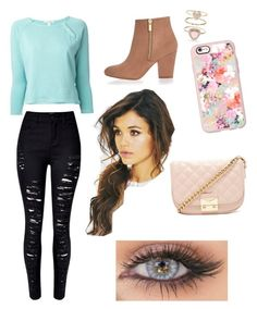 """""""Casual"""" by kristenbreannn on Polyvore featuring James Perse, WithChic, River Island, Casetify, Accessorize and Forever 21"""