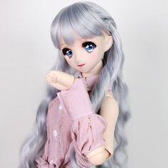구체관절인형 & 돌피드림 쇼핑몰 - 돌스앤 (wm-025 (블루 실버)) Blue And Silver, Elsa, Disney Characters, Fictional Characters, Wigs, Disney Princess, Clothes, Outfits, Clothing